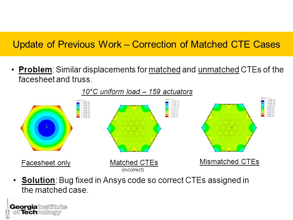 Update of Previous Work – Correction of Matched CTE Cases