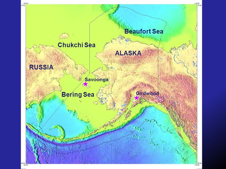 Beaufort Sea Chukchi Sea ALASKA RUSSIA Savoonga Bering Sea Girdwood
