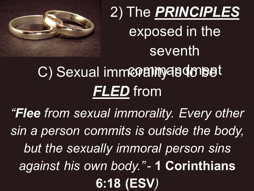 2) The PRINCIPLES exposed in the seventh commandment