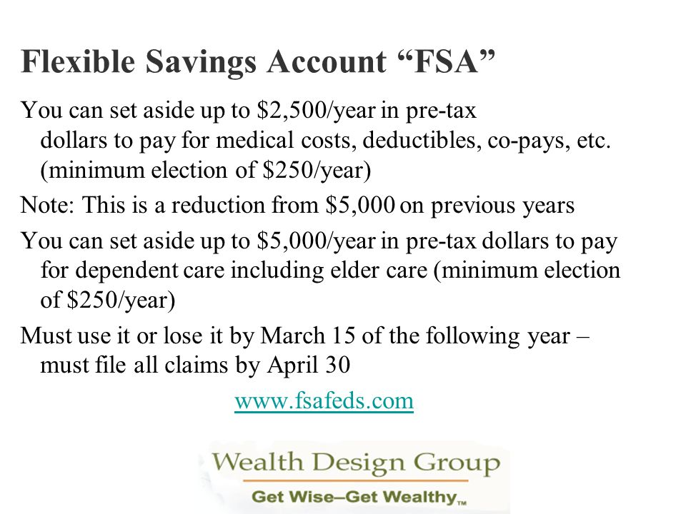 Flexible Savings Account FSA