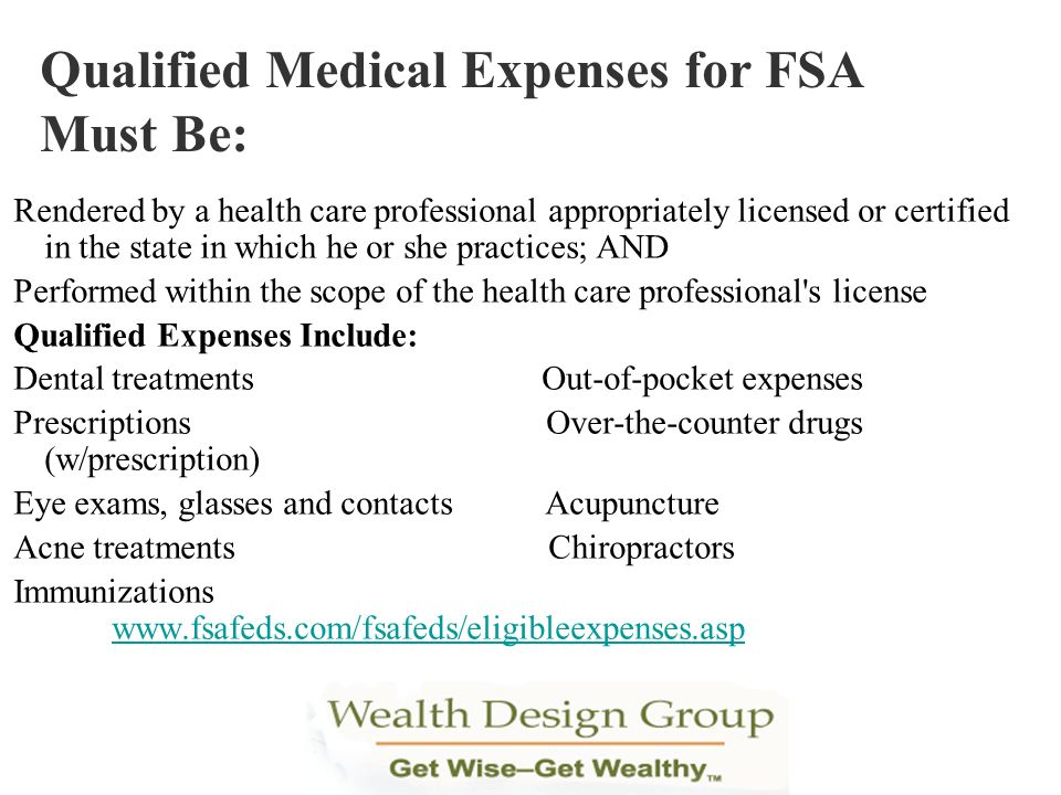 Qualified Medical Expenses for FSA Must Be: