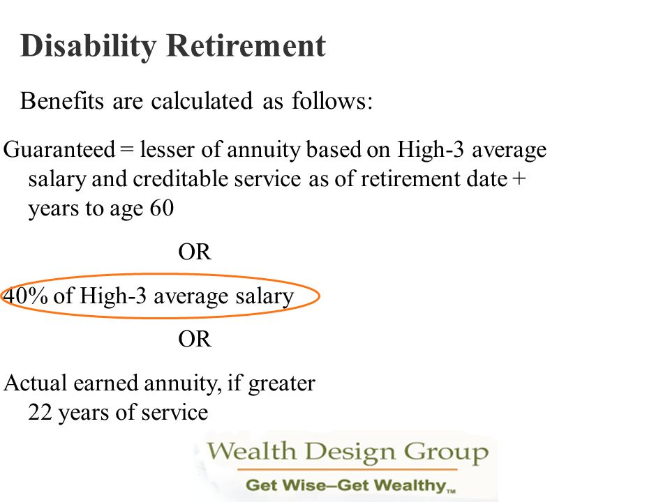 Disability Retirement