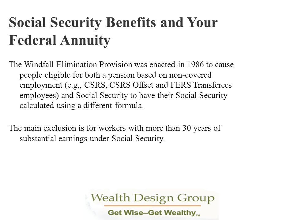 Social Security Benefits and Your Federal Annuity