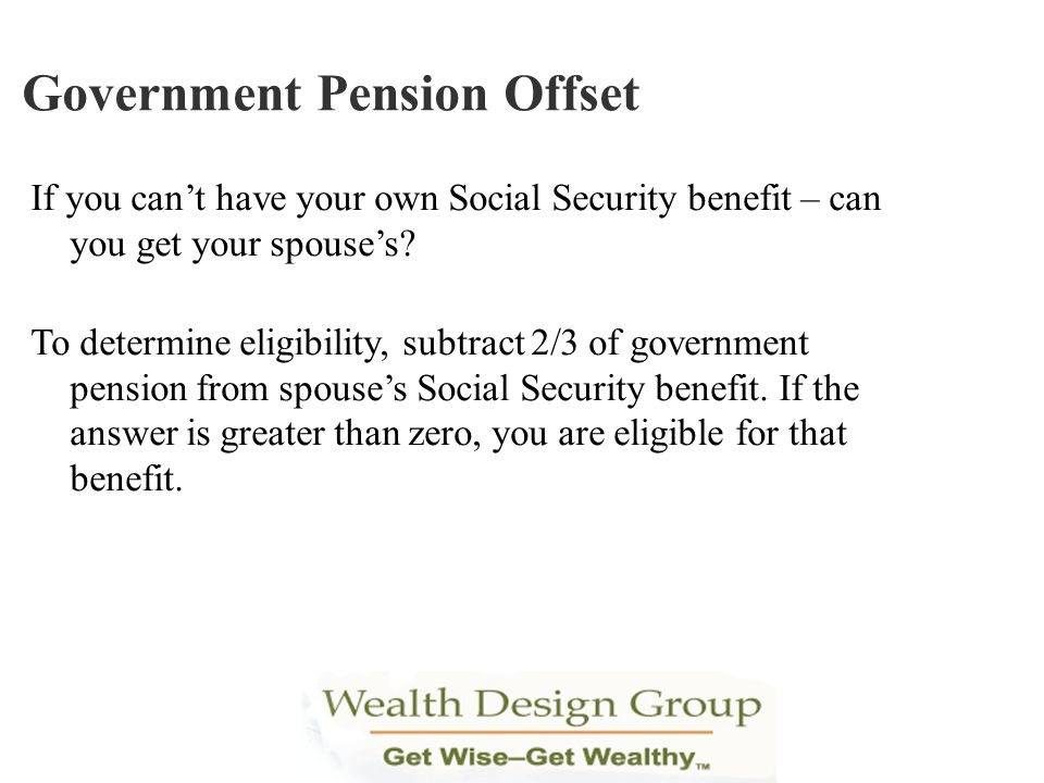Government Pension Offset