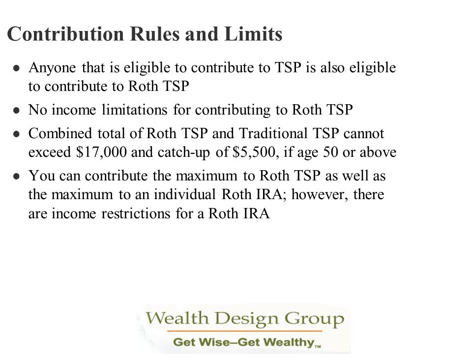 Contribution Rules and Limits