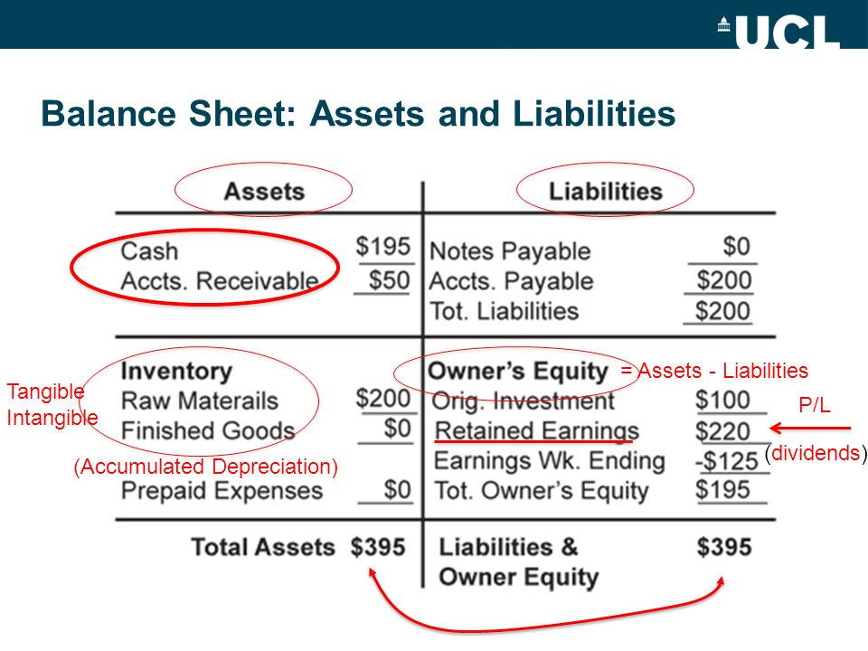 Balance Sheet: Assets and Liabilities