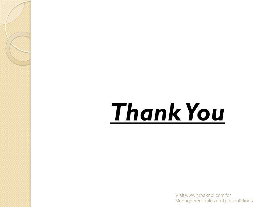 Thank You Visit   for Management notes and presentations