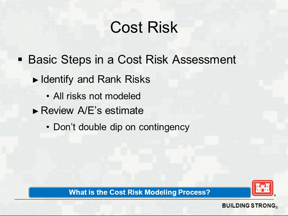 What is the Cost Risk Modeling Process
