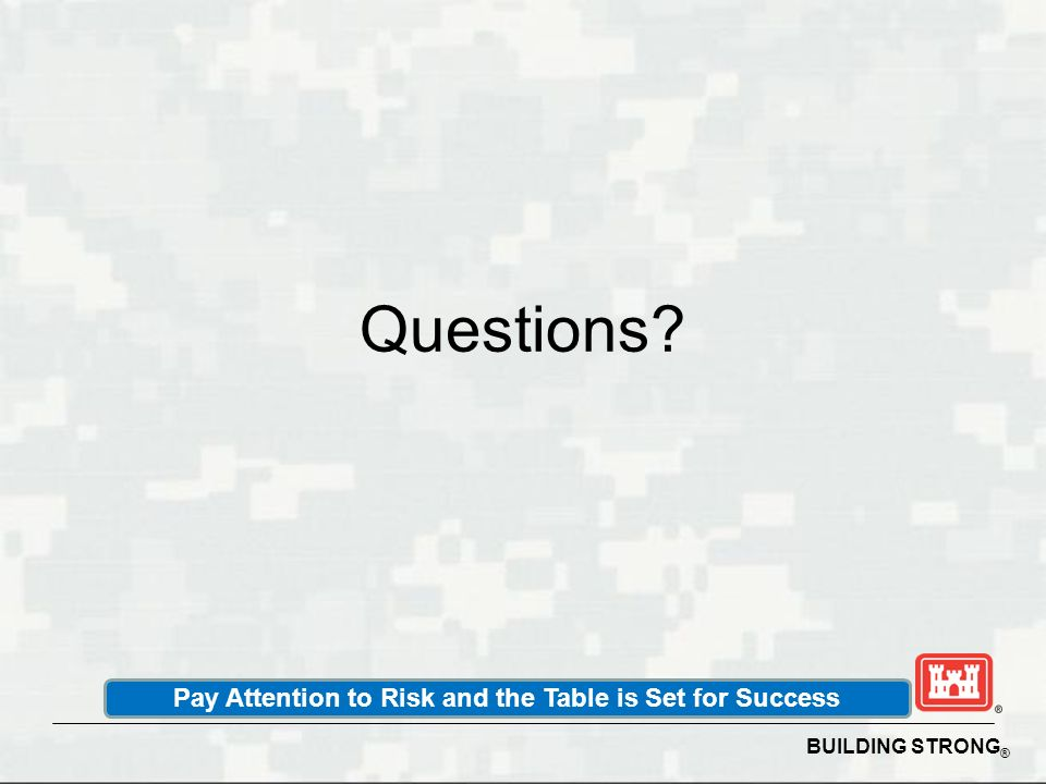 Pay Attention to Risk and the Table is Set for Success