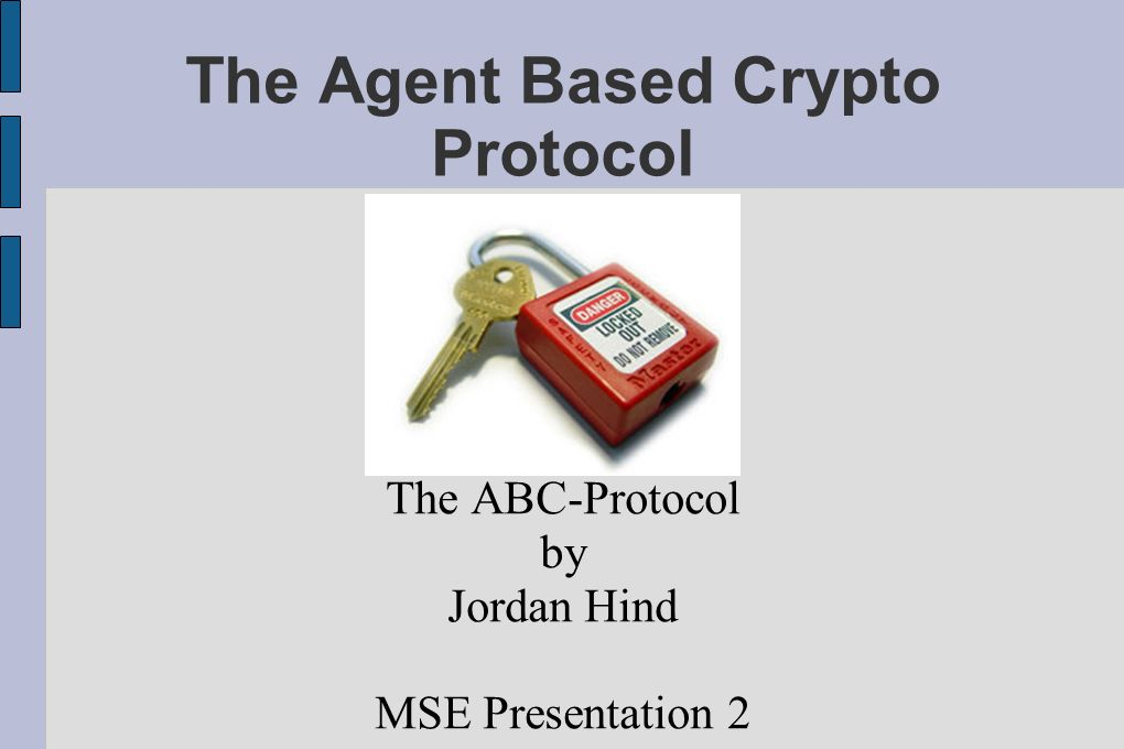 The Agent Based Crypto Protocol
