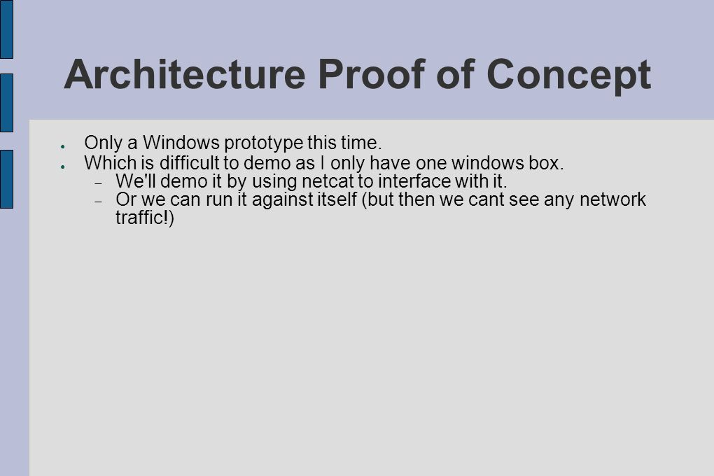 Architecture Proof of Concept