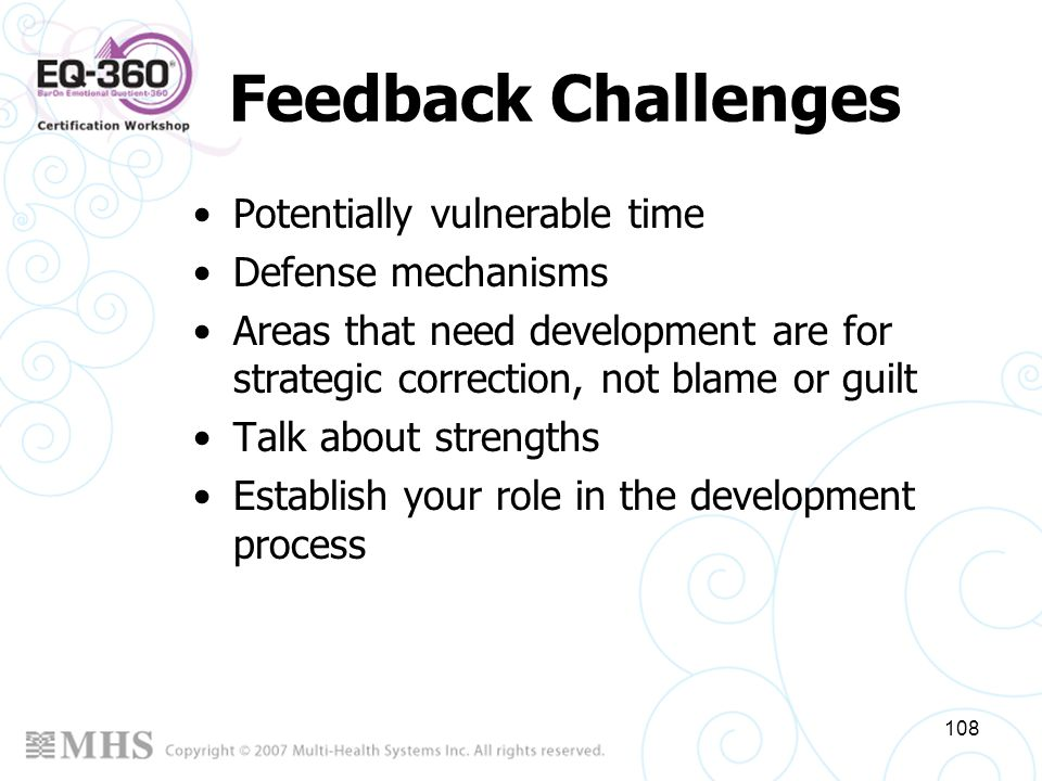 Feedback Challenges Potentially vulnerable time Defense mechanisms