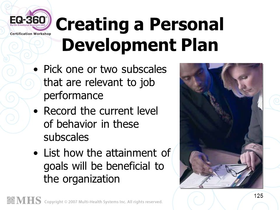 Creating a Personal Development Plan