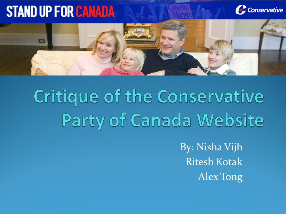 Critique of the Conservative Party of Canada Website