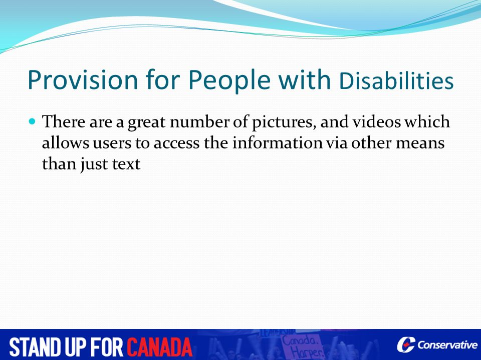 Provision for People with Disabilities