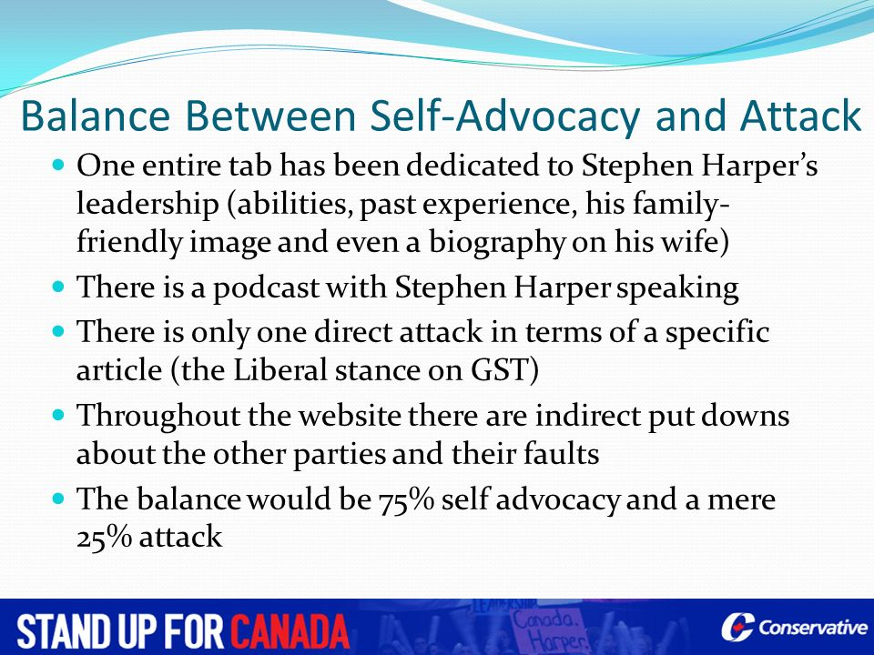 Balance Between Self-Advocacy and Attack