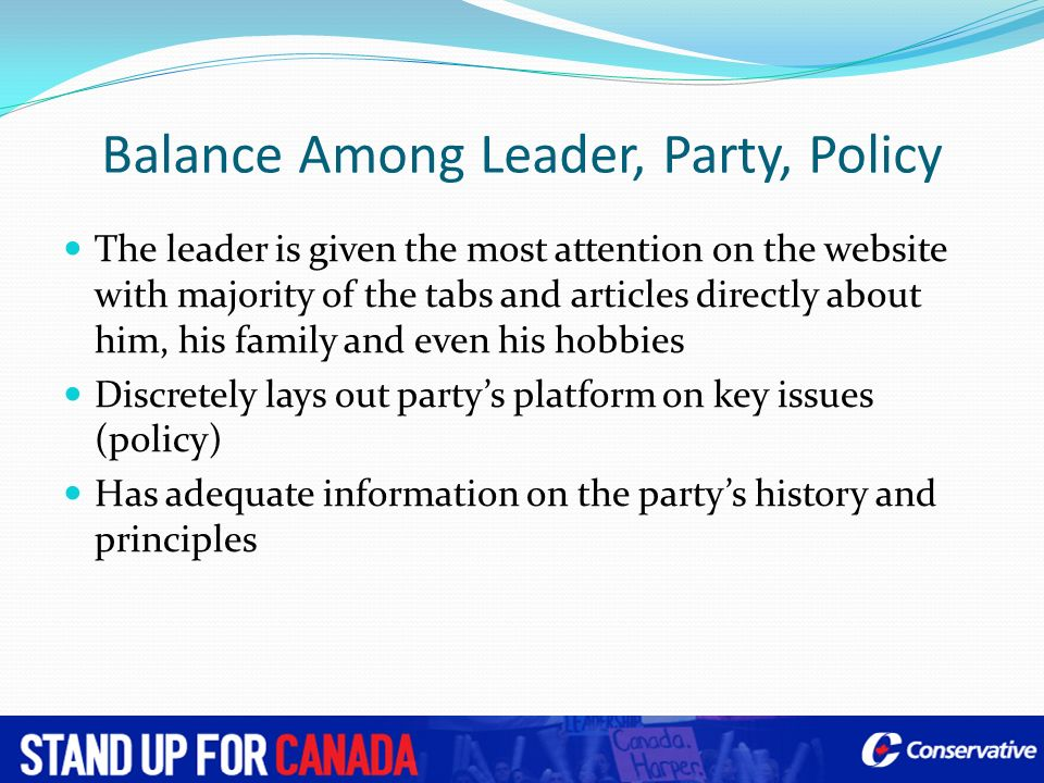 Balance Among Leader, Party, Policy