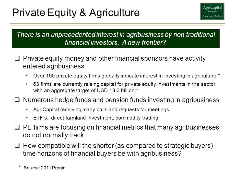 Private Equity & Agriculture