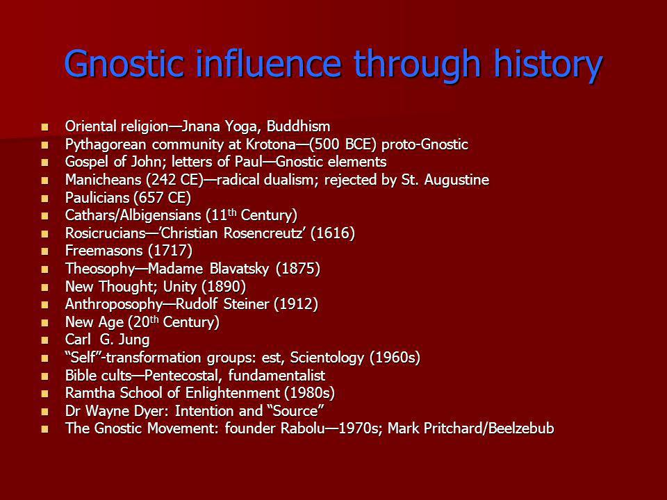 Gnostic influence through history