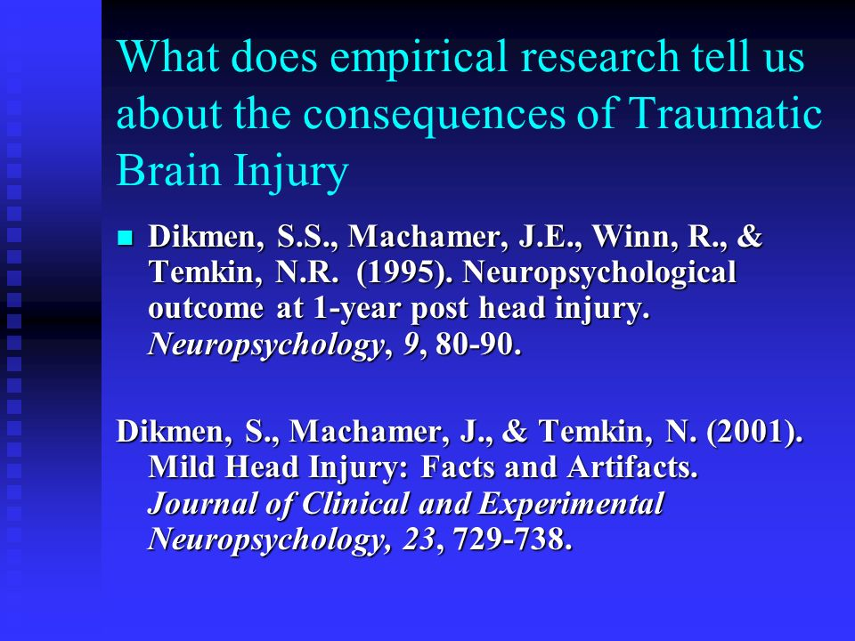 What does empirical research tell us about the consequences of Traumatic Brain Injury
