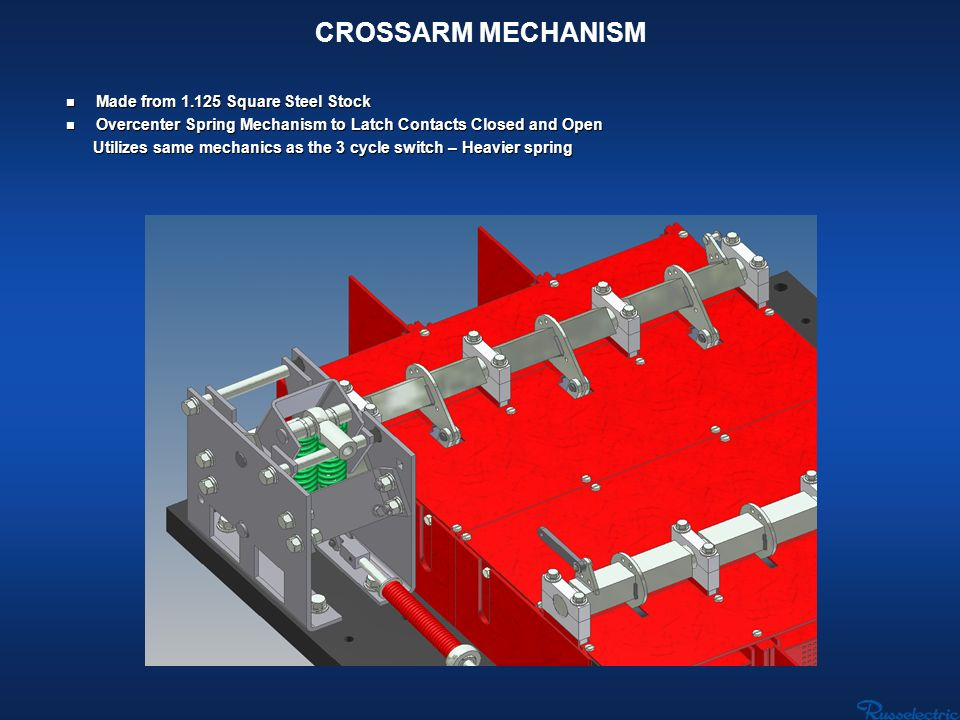 CROSSARM MECHANISM Made from Square Steel Stock