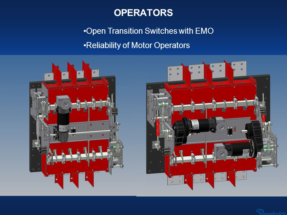 OPERATORS Open Transition Switches with EMO