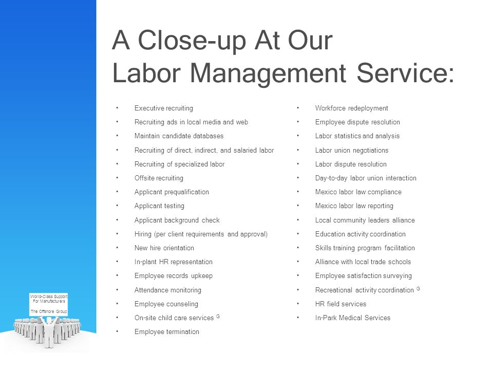 A Close-up At Our Labor Management Service: