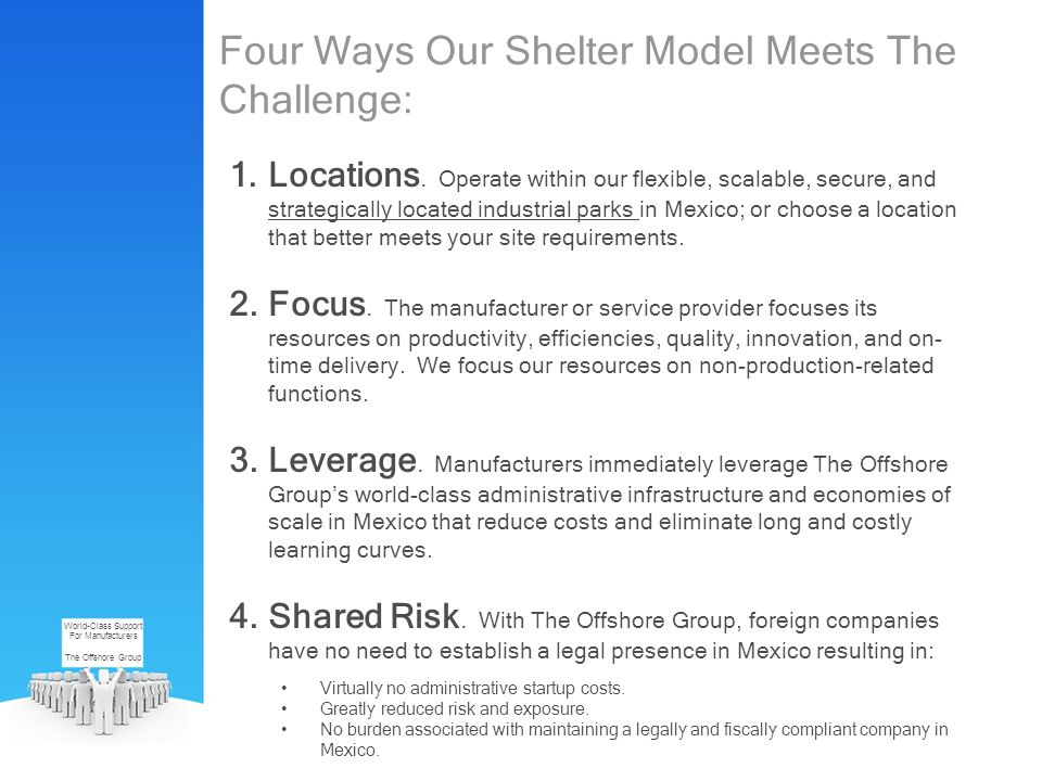 Four Ways Our Shelter Model Meets The Challenge: