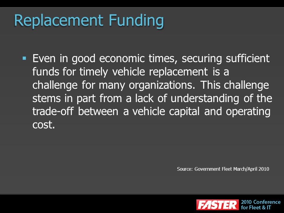Replacement Funding