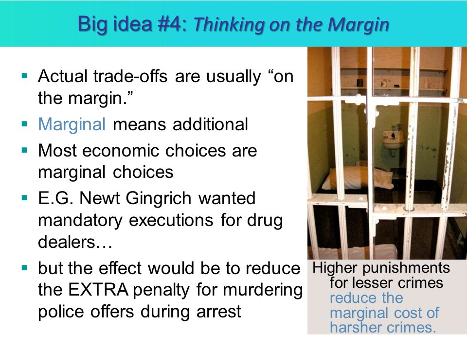 Big idea #4: Thinking on the Margin