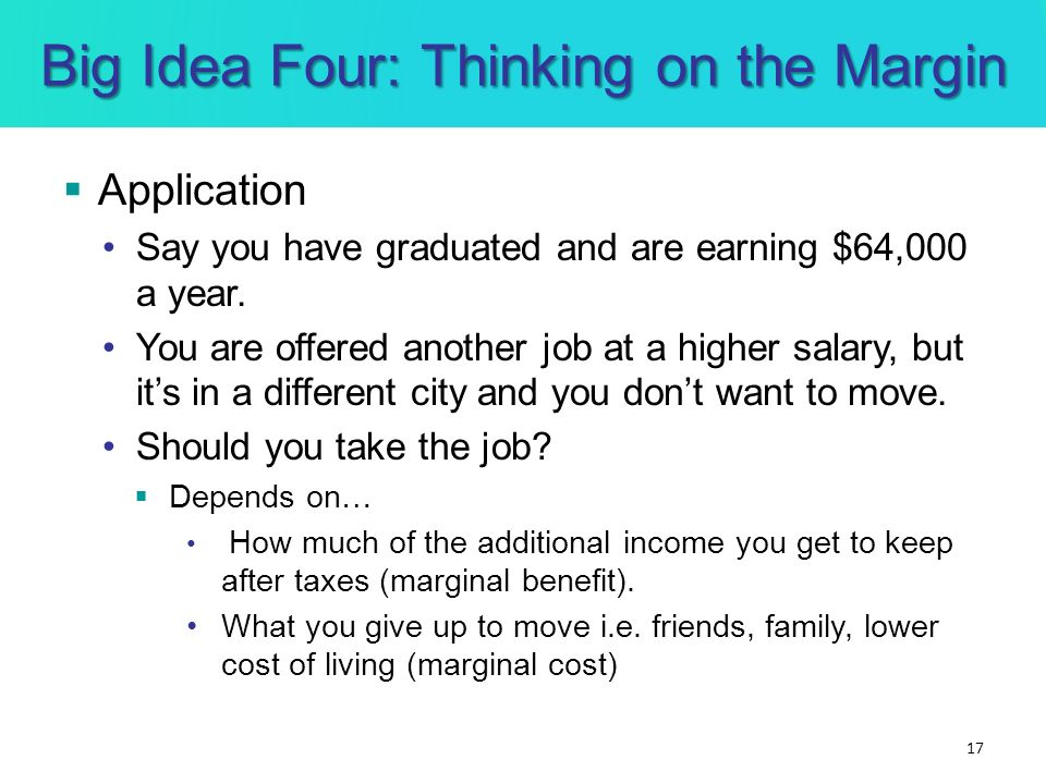Big Idea Four: Thinking on the Margin