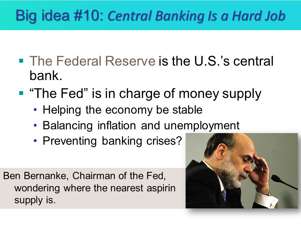 Big idea #10: Central Banking Is a Hard Job