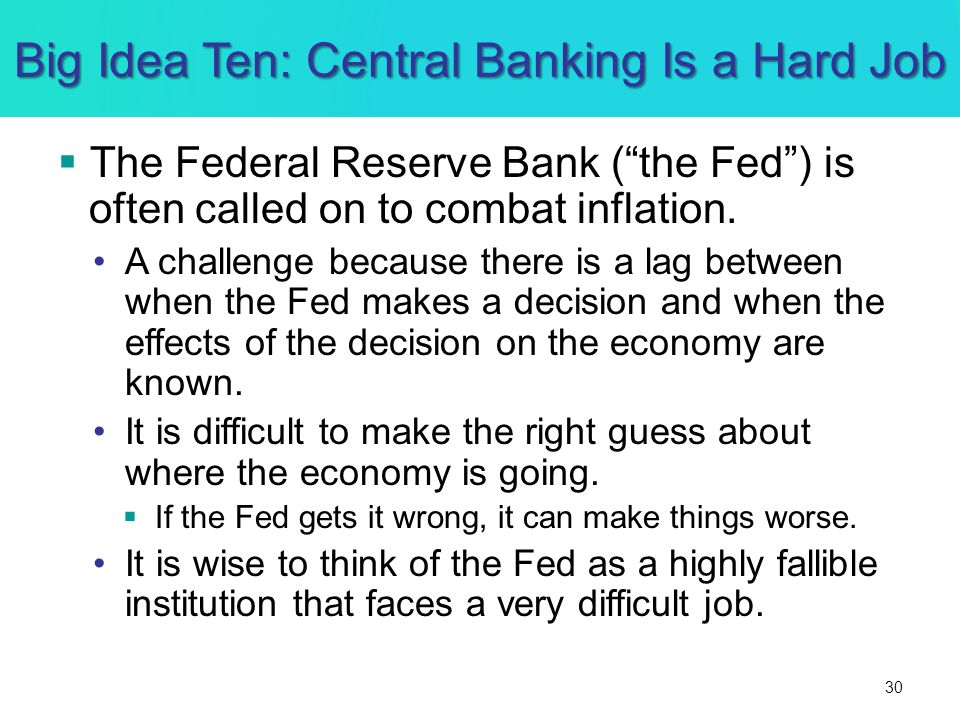 Big Idea Ten: Central Banking Is a Hard Job