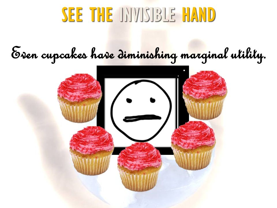 Even cupcakes have diminishing marginal utility.