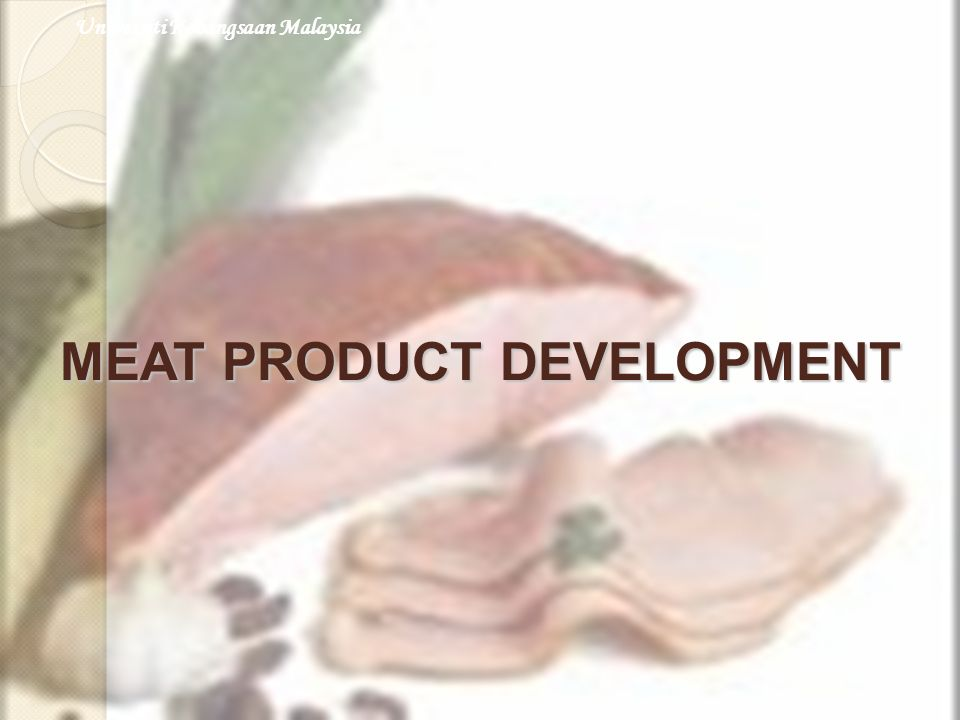 MEAT PRODUCT DEVELOPMENT