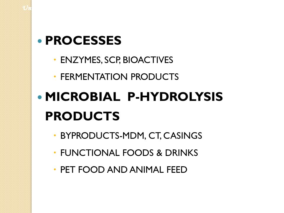 MICROBIAL P-HYDROLYSIS PRODUCTS
