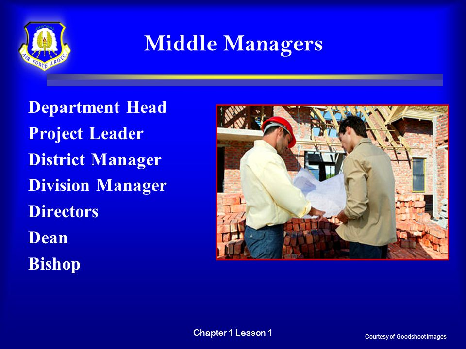 Middle Managers Department Head Project Leader District Manager