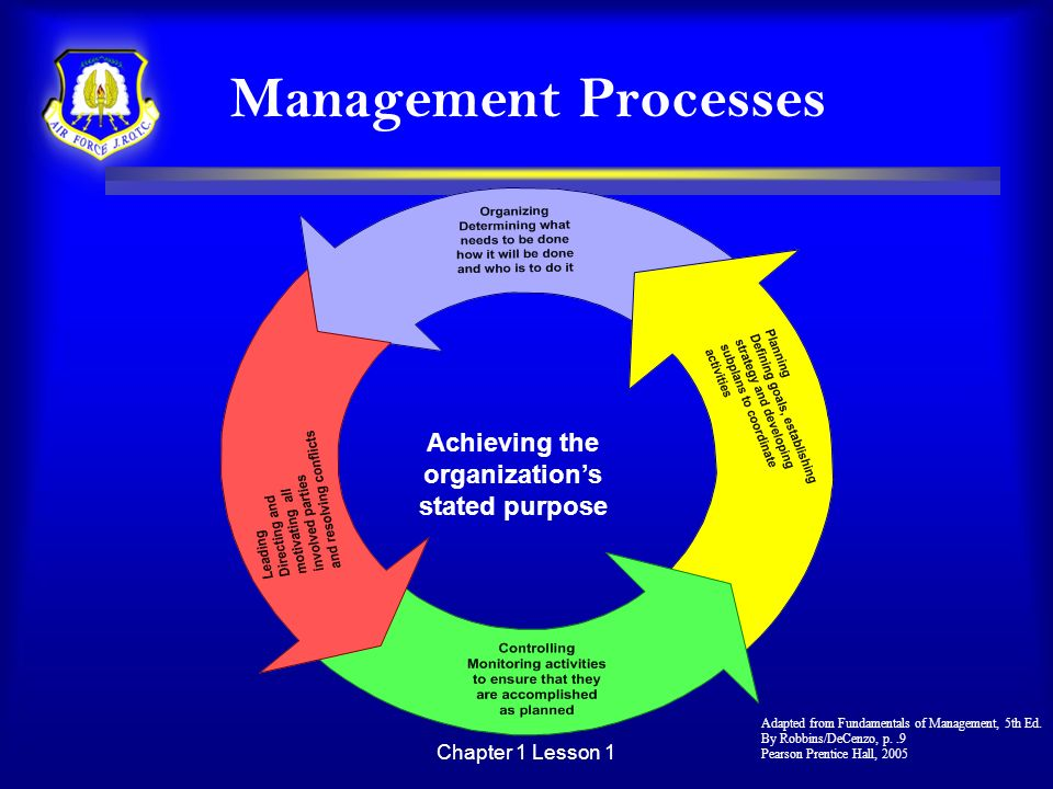 Achieving the organization's stated purpose