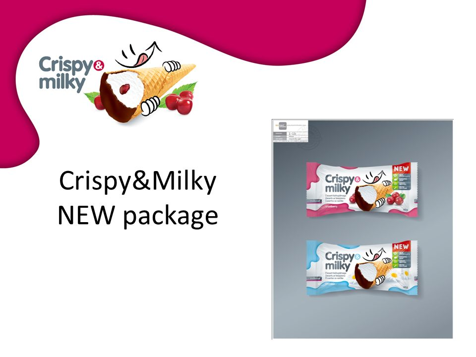 Crispy&Milky NEW package