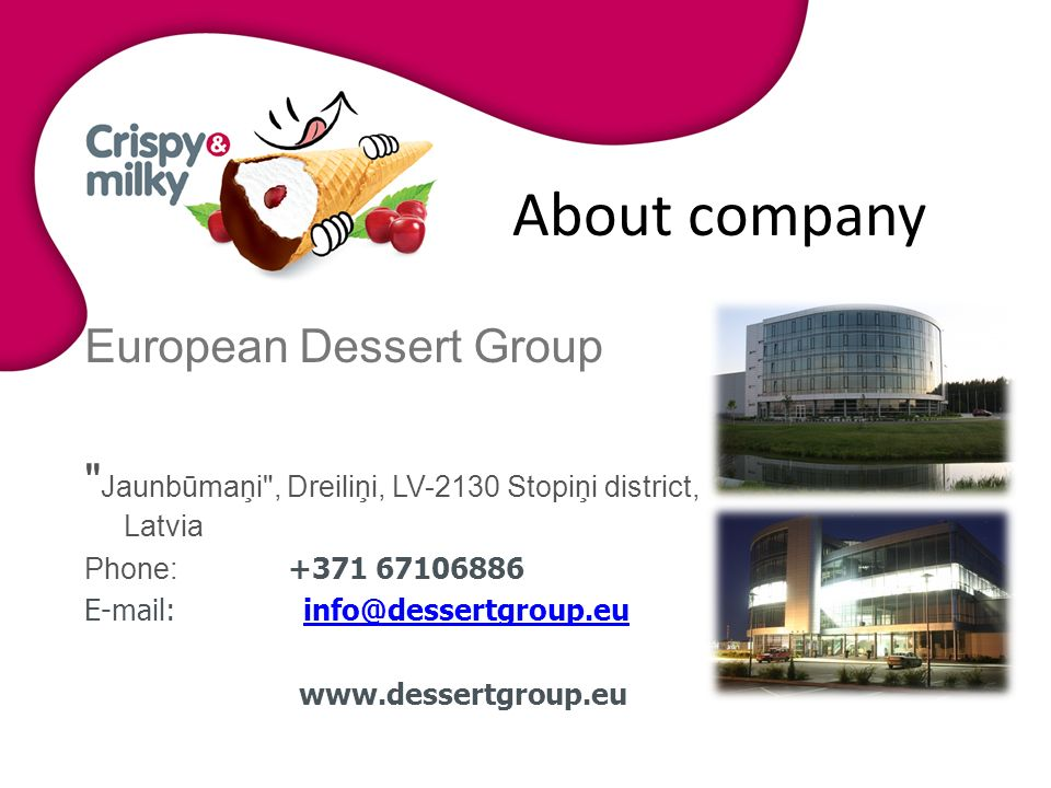 About company European Dessert Group