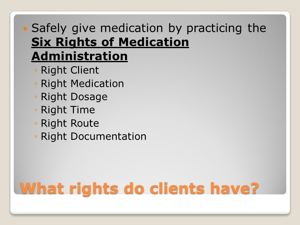What rights do clients have
