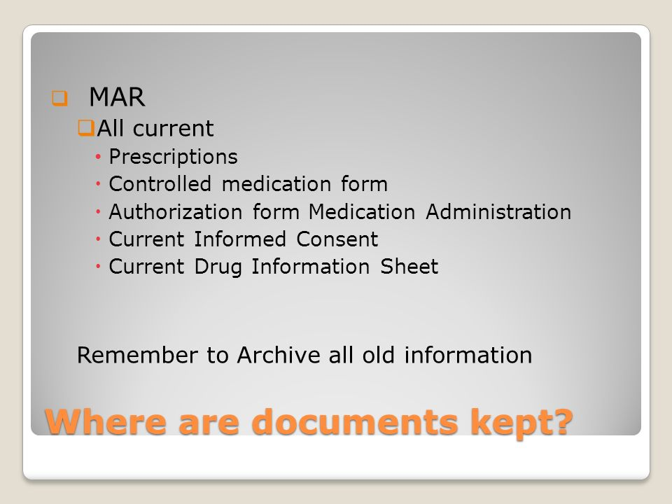 Where are documents kept