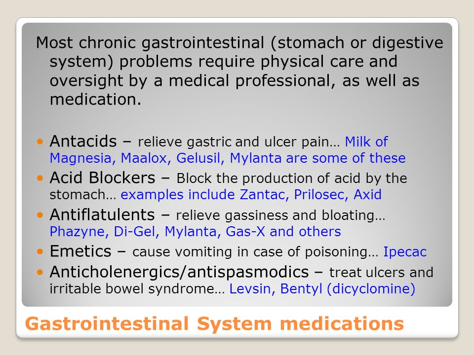 Gastrointestinal System medications