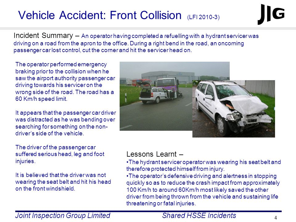Vehicle Accident: Front Collision (LFI )
