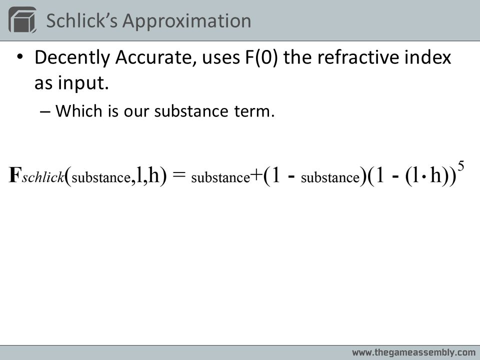 Schlick's Approximation