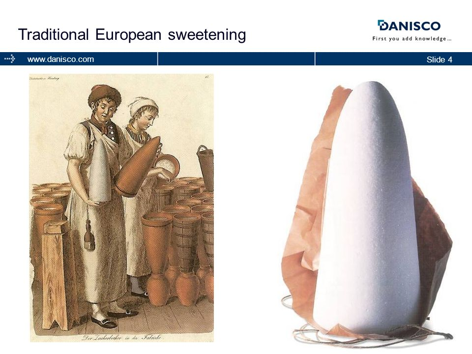 Traditional European sweetening