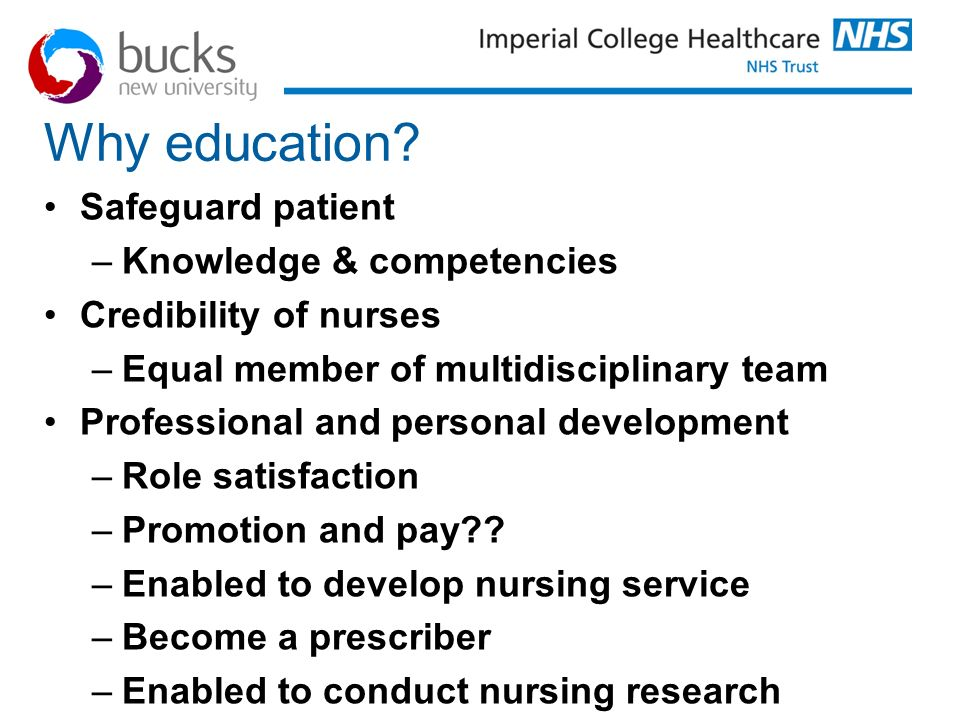 Why education Safeguard patient Knowledge & competencies
