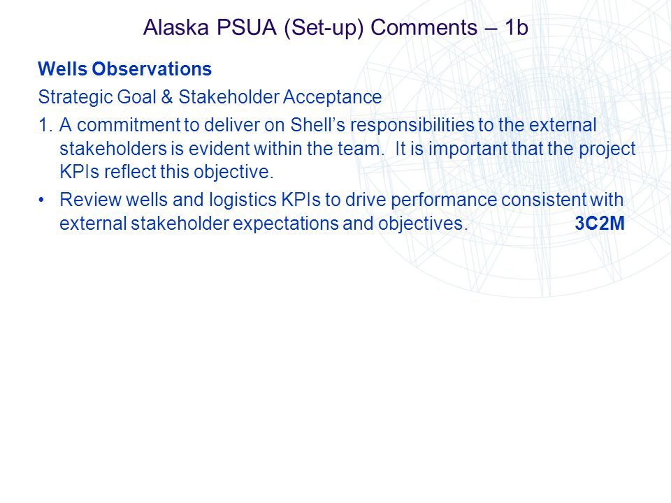 Alaska PSUA (Set-up) Comments – 1b