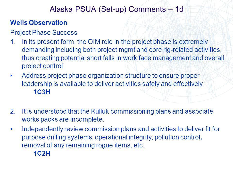 Alaska PSUA (Set-up) Comments – 1d