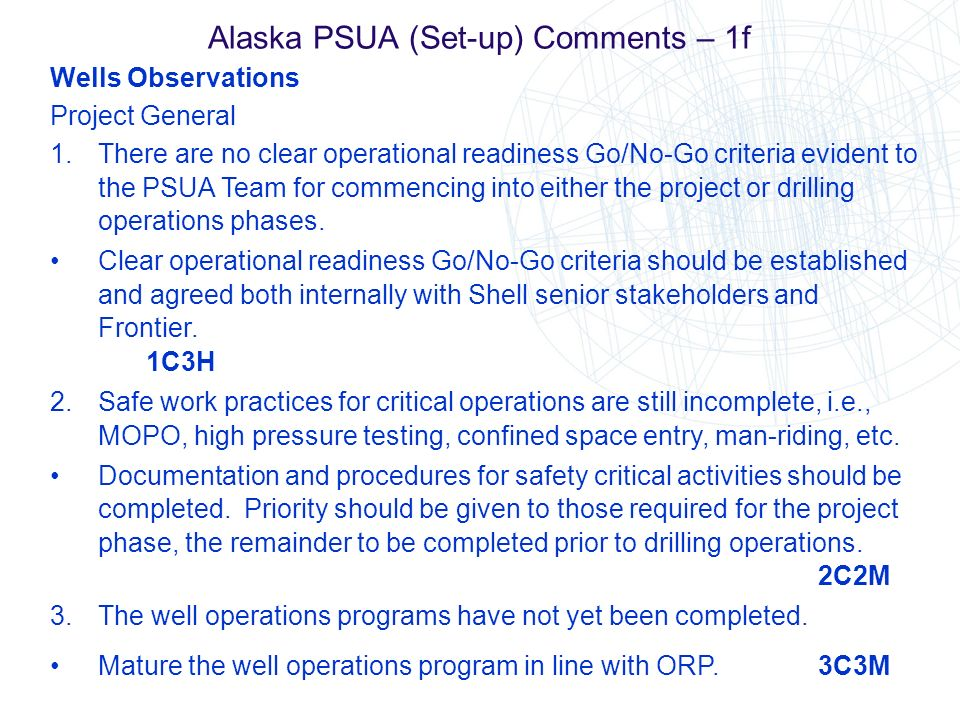 Alaska PSUA (Set-up) Comments – 1f